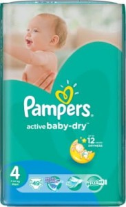 Pampers pieluchy activ baby-dry 4:7-14 kg Maxi